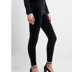Gap Velvet Crop Jegging with side Zip